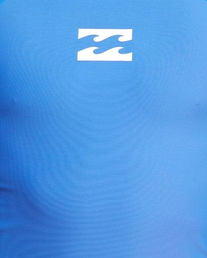 7 All Day Wave Performance Fit Short Sleeve Rash Vest Blue 9703502 Billabong