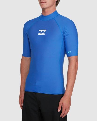 1 All Day Wave Performance Fit Short Sleeve Rash Vest Blue 9703502 Billabong