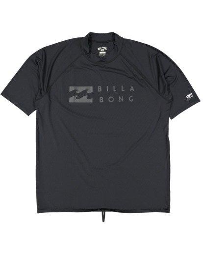 4 Union Regular Fit Short Sleeve Rash Vest Grey 9703506 Billabong