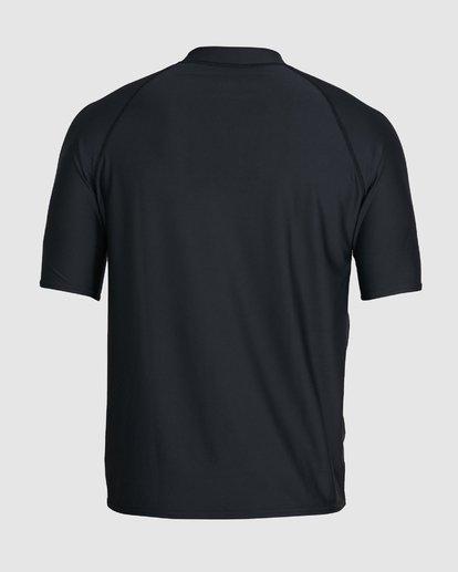 2 Union Relaxed Fit Short Sleeve Rashie Black 9703506 Billabong