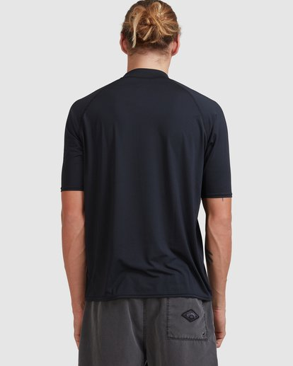 2 Union Regular Fit Short Sleeve Rash Vest Grey 9703506 Billabong