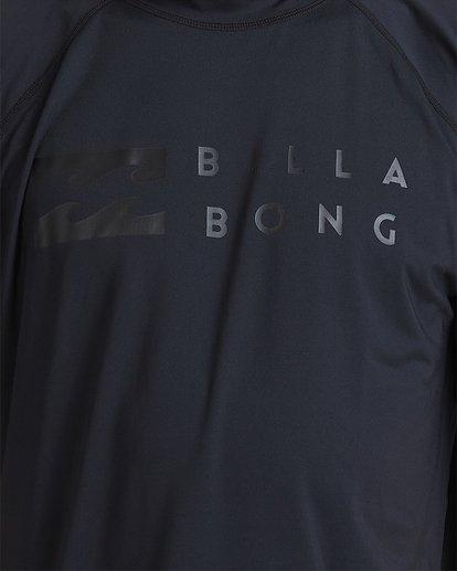3 Union Regular Fit Short Sleeve Rash Vest Grey 9703506 Billabong