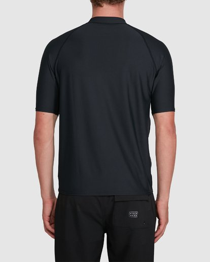 2 Union Relaxed Fit Short Sleeve Rash Vest Black 9703506 Billabong