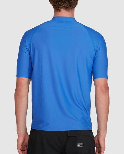2 Union Regular Fit Short Sleeve Rash Vest Blue 9703506 Billabong