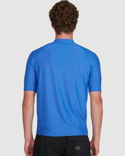 5 Union Regular Fit Short Sleeve Rash Vest Blue 9703506 Billabong
