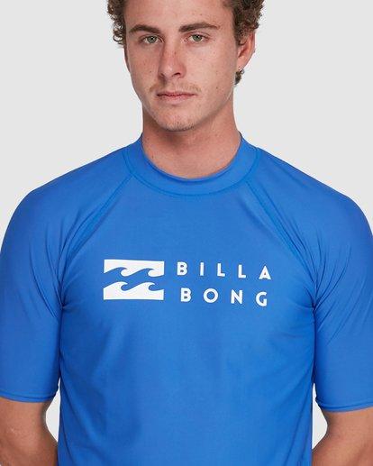 6 Union Regular Fit Short Sleeve Rash Vest Blue 9703506 Billabong
