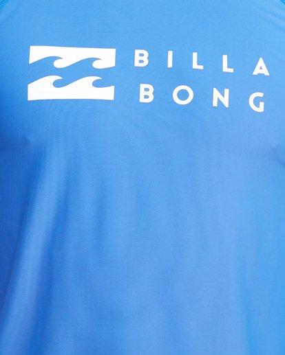 7 Union Regular Fit Short Sleeve Rash Vest Blue 9703506 Billabong