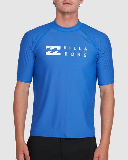 0 Union Regular Fit Short Sleeve Rash Vest Blue 9703506 Billabong