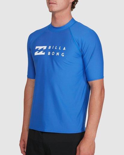 1 Union Regular Fit Short Sleeve Rash Vest Blue 9703506 Billabong
