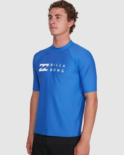 4 Union Regular Fit Short Sleeve Rash Vest Blue 9703506 Billabong