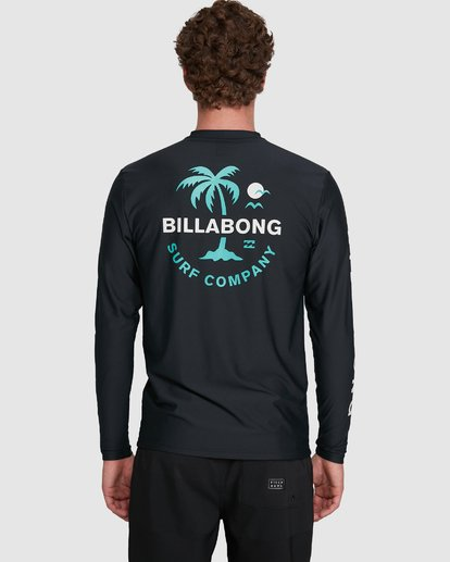 5 Vacation Loose Fit Long Sleeve Rash Vest Black 9703507 Billabong