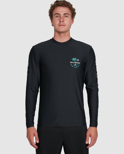 3 Vacation Loose Fit Long Sleeve Rash Vest Black 9703507 Billabong