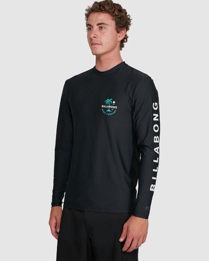 4 Vacation Loose Fit Long Sleeve Rash Vest Black 9703507 Billabong