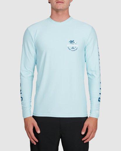 0 Vacation Loose Fit Long Sleeve Rash Vest Blue 9703507 Billabong