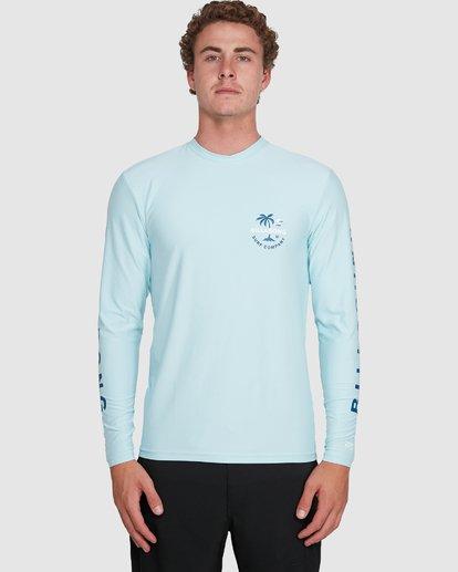 3 Vacation Loose Fit Long Sleeve Rash Vest Blue 9703507 Billabong
