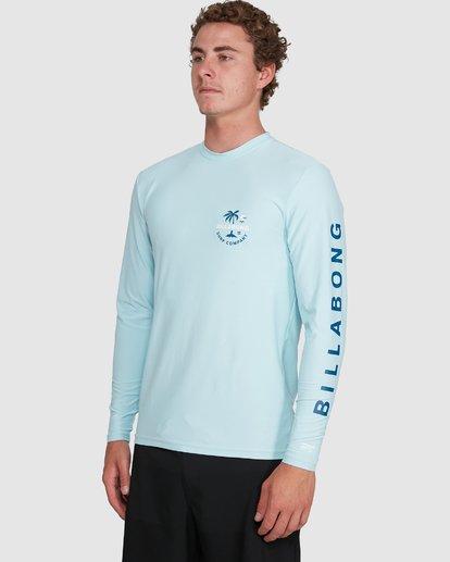4 Vacation Loose Fit Long Sleeve Rash Vest Blue 9703507 Billabong