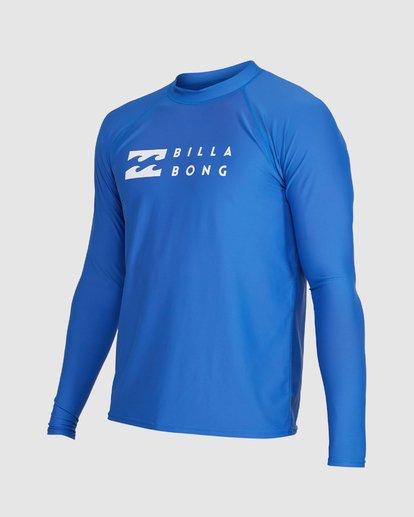 1 Union Regular Fit Long Sleeve Rash Vest Blue 9703508 Billabong