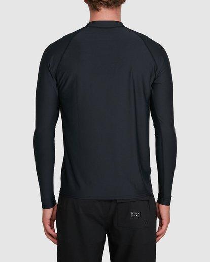 5 Union Regular Fit Long Sleeve Rash Vest Black 9703508 Billabong