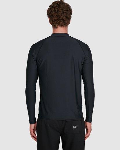 8 Union Regular Fit Long Sleeve Rash Vest Black 9703508 Billabong