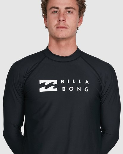 9 Union Regular Fit Long Sleeve Rash Vest Black 9703508 Billabong