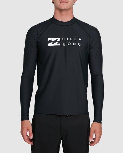 3 Union Regular Fit Long Sleeve Rash Vest Black 9703508 Billabong