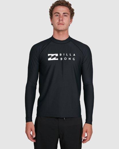 6 Union Regular Fit Long Sleeve Rash Vest Black 9703508 Billabong