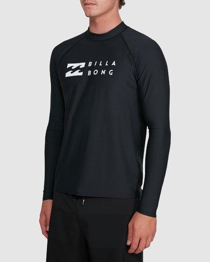 4 Union Regular Fit Long Sleeve Rash Vest Black 9703508 Billabong