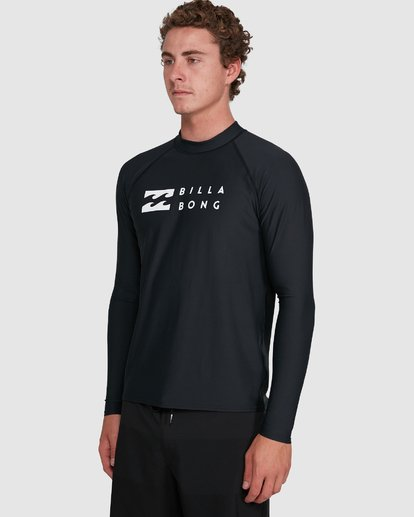 7 Union Regular Fit Long Sleeve Rash Vest Black 9703508 Billabong