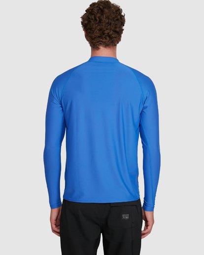 8 Union Regular Fit Long Sleeve Rash Vest Blue 9703508 Billabong