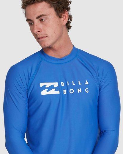 9 Union Regular Fit Long Sleeve Rash Vest Blue 9703508 Billabong