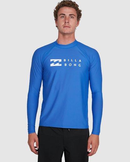 6 Union Regular Fit Long Sleeve Rash Vest Blue 9703508 Billabong