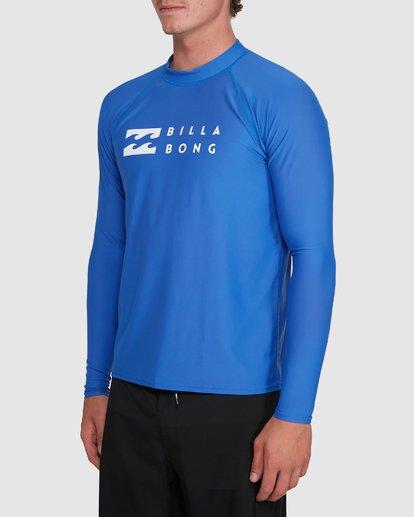 4 Union Regular Fit Long Sleeve Rash Vest Blue 9703508 Billabong