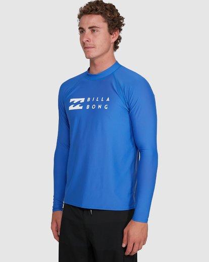 7 Union Regular Fit Long Sleeve Rash Vest Blue 9703508 Billabong
