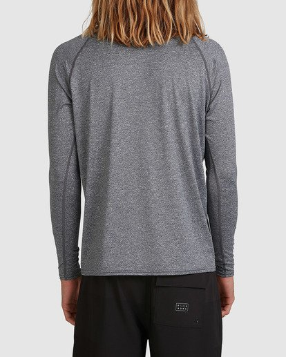 2 United Regular Fit Long Sleeve Rash Vest Grey 9703508 Billabong