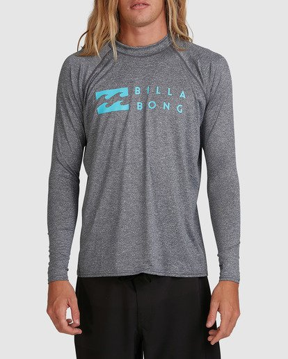 0 United Regular Fit Long Sleeve Rash Vest Grey 9703508 Billabong