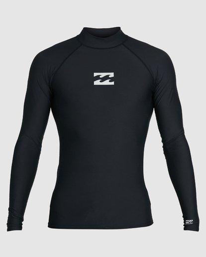0 All Day Wave Performance Fit Long Sleeve Rash Vest Black 9703509 Billabong