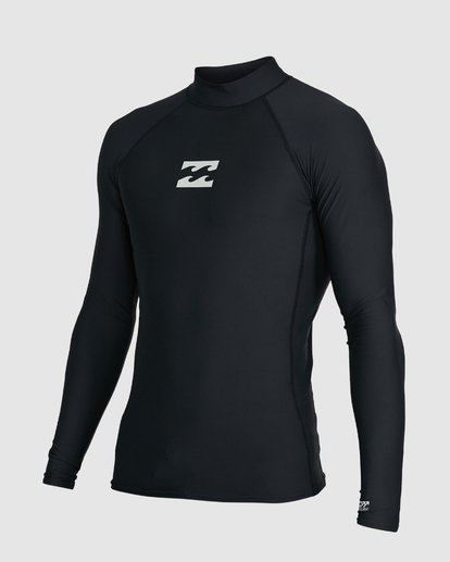1 All Day Wave Performance Fit Long Sleeve Rash Vest Black 9703509 Billabong