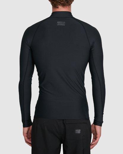 2 All Day Wave Performance Fit Long Sleeve Rash Vest Black 9703509 Billabong