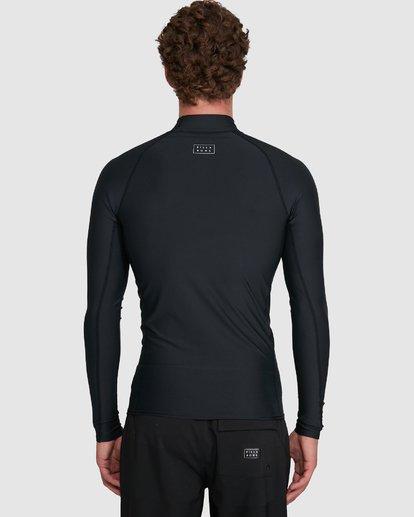 8 All Day Wave Performance Fit Long Sleeve Rash Vest Black 9703509 Billabong