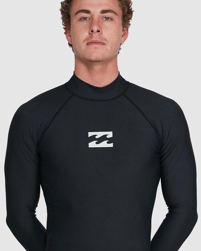 9 All Day Wave Performance Fit Long Sleeve Rash Vest Black 9703509 Billabong