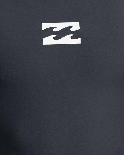 10 All Day Wave Performance Fit Long Sleeve Rash Vest Black 9703509 Billabong