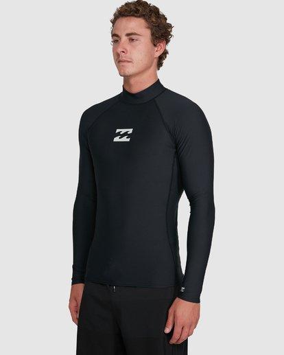 7 All Day Wave Performance Fit Long Sleeve Rash Vest Black 9703509 Billabong