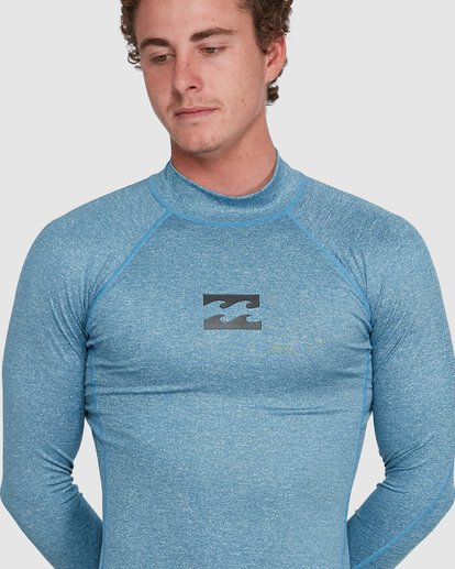 3 All Day Wave Performance Fit Long Sleeve Rash Vest Blue 9703509 Billabong