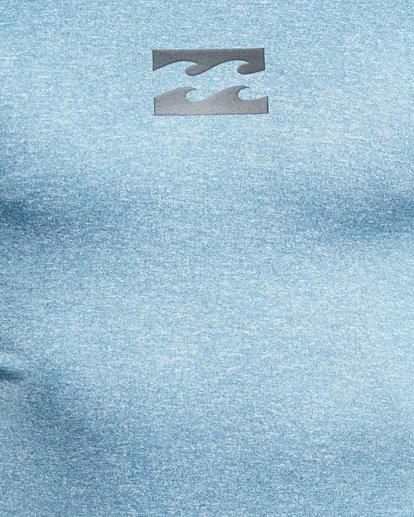 4 All Day Wave Performance Fit Long Sleeve Rash Vest Blue 9703509 Billabong