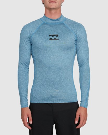 0 All Day Wave Performance Fit Long Sleeve Rash Vest Blue 9703509 Billabong