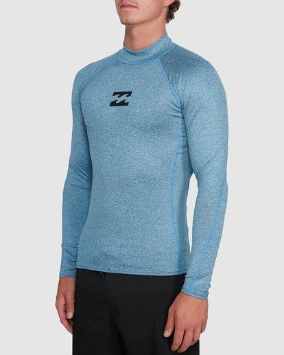 1 All Day Wave Performance Fit Long Sleeve Rash Vest Blue 9703509 Billabong