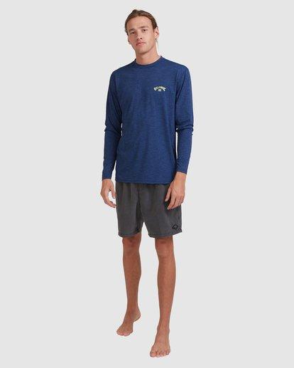 4 Shoreline Loose Fit Long Sleeve Rash Vest Blue 9703512 Billabong