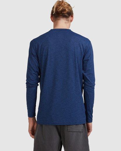 2 Shoreline Loose Fit Long Sleeve Rash Vest Blue 9703512 Billabong