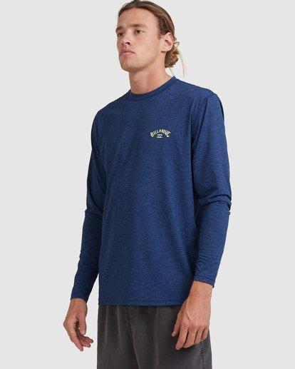 1 Shoreline Loose Fit Long Sleeve Rash Vest Blue 9703512 Billabong