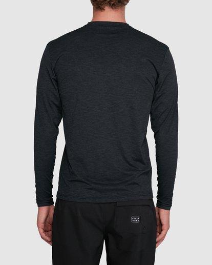 2 Shoreline Loose Fit Long Sleeve Rash Vest Black 9703512 Billabong